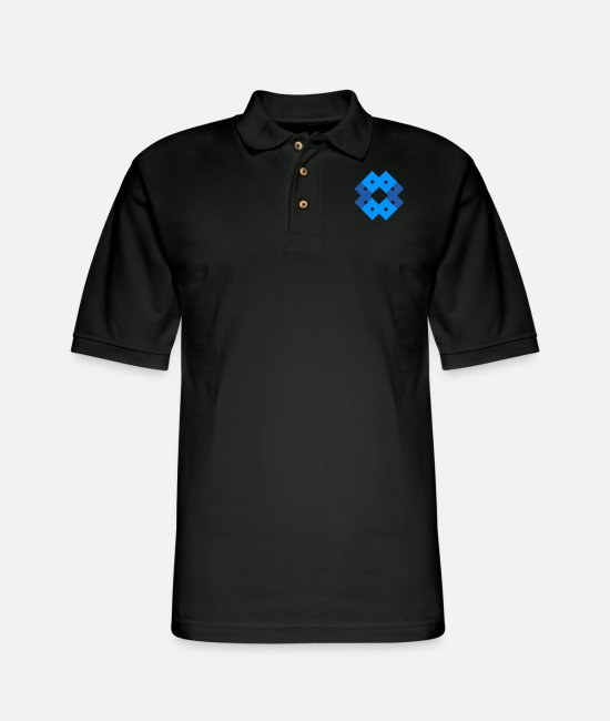 Art Polo Shirts - Pastel Blue - Men's Pique Polo Shirt black