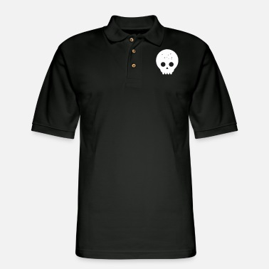 Grungy Grungy Skull - Men's Pique Polo Shirt