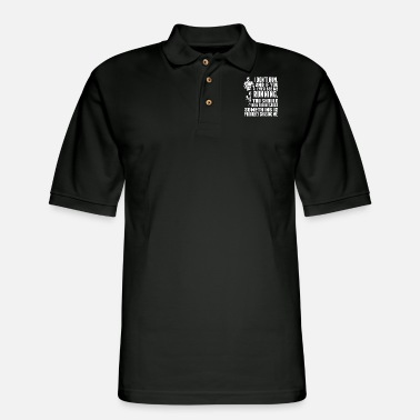 Running I Dont Run and If You Ever See Me Running - Men's Pique Polo Shirt