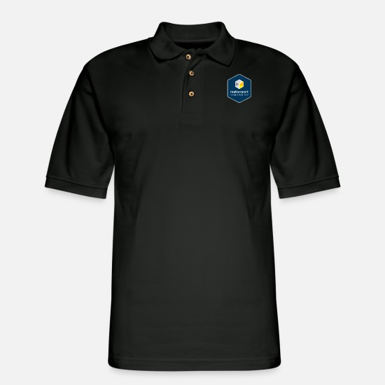 Matterport Polo Shirts - Matterport Service Partner Badge - Men's Pique Polo Shirt black