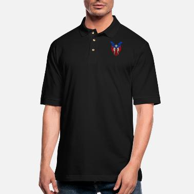 Spanish Boricua Tribal Flag - Puerto Rico Pride - Men's Pique Polo Shirt