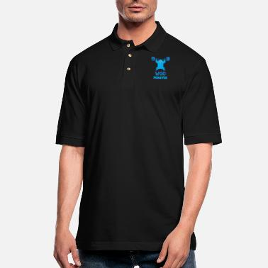 Funny Crossfit WOD Monster (Cute CrossFit Character) - Men's Pique Polo Shirt