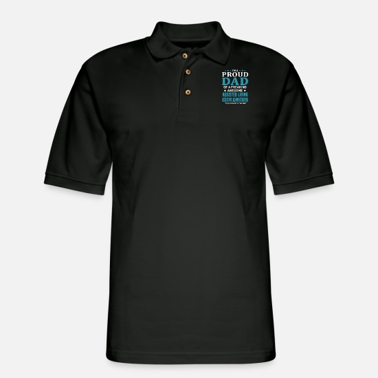 Father And Son Polo Shirts - Assisted Living Assistant Administrator - Men's Pique Polo Shirt black