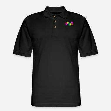 Color Splash Splashes of color splashes of color color color du - Men's Pique Polo Shirt