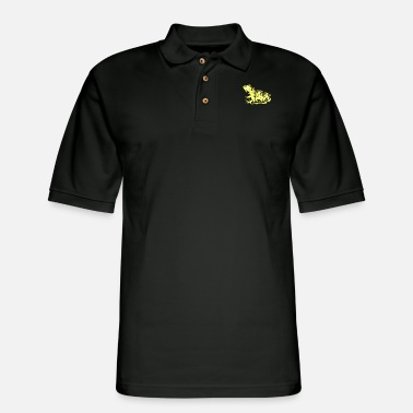 Frog King Frog Forest - Men's Pique Polo Shirt