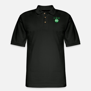 Birthday 80th Birthday - Men's Pique Polo Shirt
