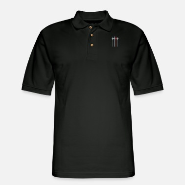 Arrow Bow and Arrows - Men's Pique Polo Shirt