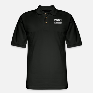 heavy equipment operator work harder than an ugly - Men's Pique Polo Shirt