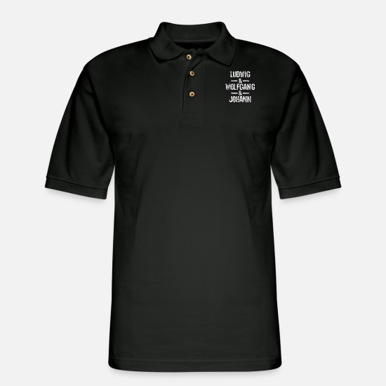 Music Polo Shirts - Classical music composers - Men's Pique Polo Shirt black