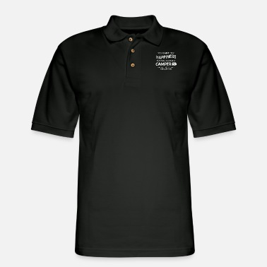 you can not buy happiness but you can buy a camper - Men's Pique Polo Shirt