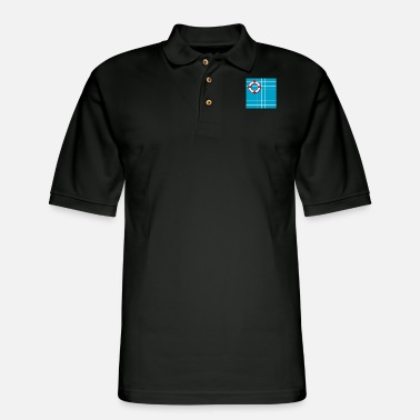 Pool swimming pool - Men's Pique Polo Shirt