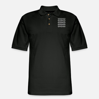Heart Hearts hearts hearts - Men's Pique Polo Shirt