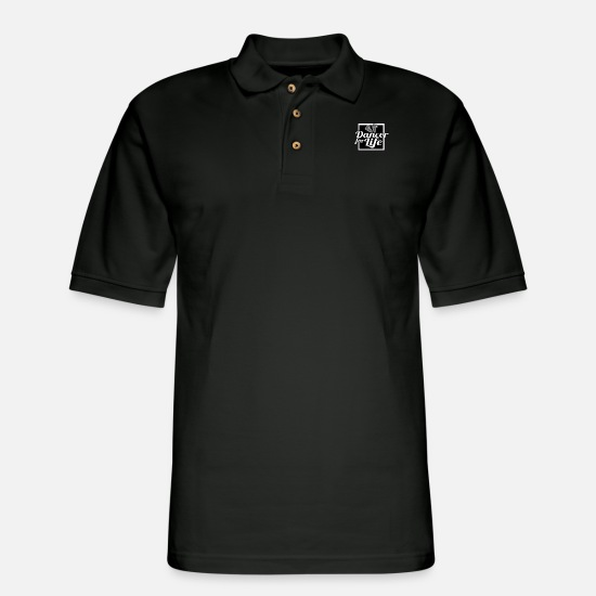Dance Studio Polo Shirts - Dance Dancing - Men's Pique Polo Shirt black