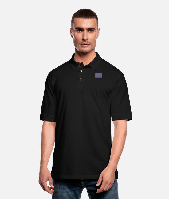 Donut Polo Shirts - Phish Colorado Fishman Phanart - Men's Pique Polo Shirt black