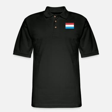 Flag Of Flag of Luxembourg, Luxembourgs flag - Men's Pique Polo Shirt