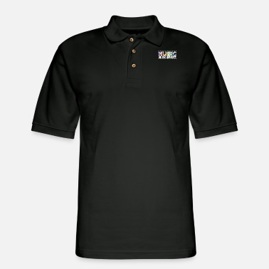 Equalizer Funny Equalizer Music is my Sport Radio design - Men's Pique Polo Shirt