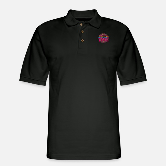 Gift Idea Polo Shirts - Flute Classical Music - Men's Pique Polo Shirt black