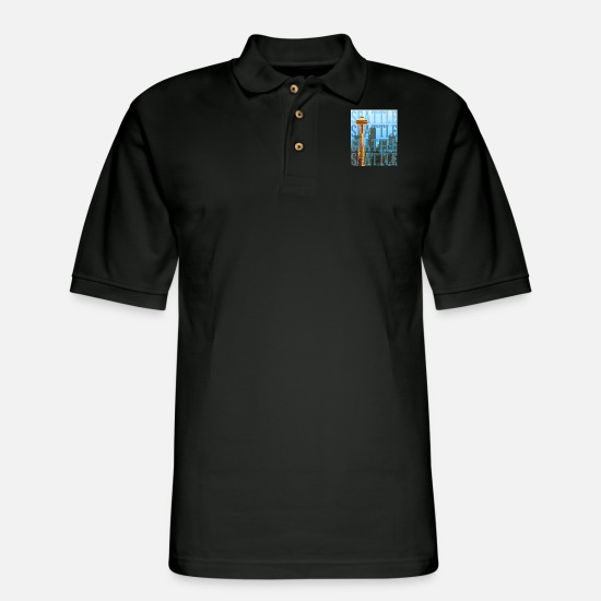 Seattle Polo Shirts - Seattle - Men's Pique Polo Shirt black