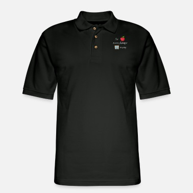 Windows At Apple a day keeps windows away operating system - Men's Pique Polo Shirt