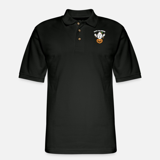 Halloween Phantom Polo Shirts - Ghost Halloween Spook Spook Shape Phantom Ghost - Men's Pique Polo Shirt black
