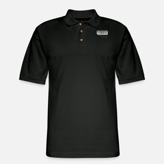 Carolina Polo Shirts - Vintage Durham NC Yorktowne Theatre Movies - Men's Pique Polo Shirt black