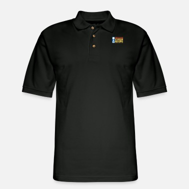 Charger Mens We Solve Our Problems With Wide Open - Men's Pique Polo Shirt