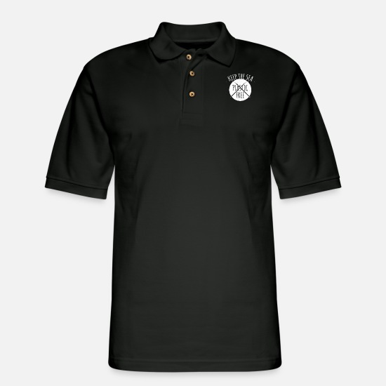 Birthday Polo Shirts - environmental Protection envi Quote funny awesome - Men's Pique Polo Shirt black