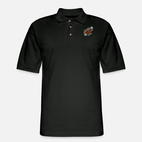 Team Bride Polo Shirts - Don't hurry be happy chill Lazy hanging Sloth - Men's Pique Polo Shirt black