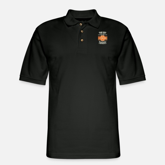 Funny Polo Shirts - Your Body Can Stand Almost Anything. It's Your - Men's Pique Polo Shirt black