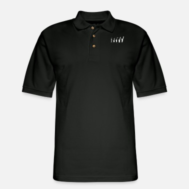 Instrument Saxophone Evolution - Men's Pique Polo Shirt