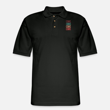 Cow cows cows cows cows - Men's Pique Polo Shirt