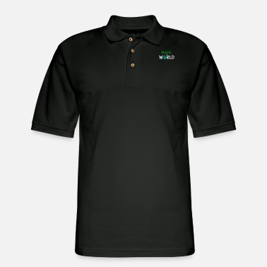 Over Travel The World Go Across The Globe With You - Men's Pique Polo Shirt