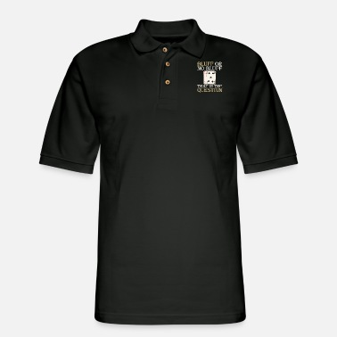 Bluff Poker Bluff | Bluff or no Bluff that is the - Men's Pique Polo Shirt