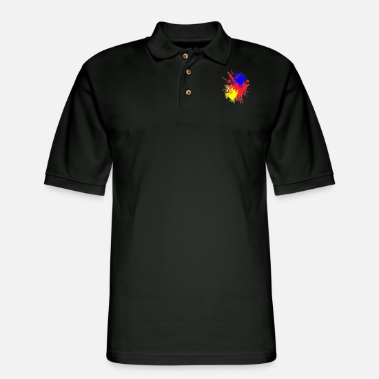 Gun Polo Shirts - Paintball - Men's Pique Polo Shirt black