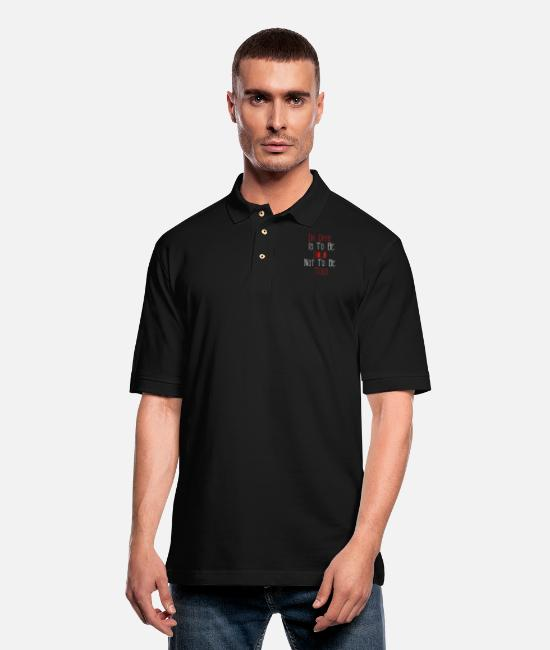 Hiphop Urban Polo Shirts - Da GAME IS TO BE SOLD NOT TO BE TOLD - Men's Pique Polo Shirt black