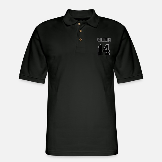 Science Student Polo Shirts - Element Silicon - Men's Pique Polo Shirt black