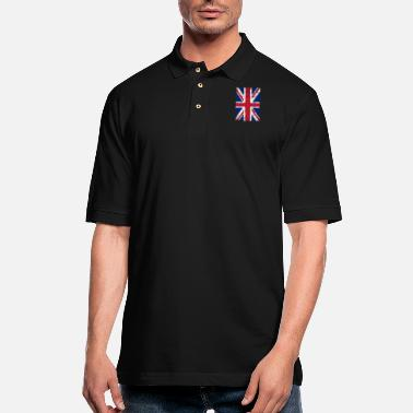 Union Jack Union Jack Flag Grunge - Men's Pique Polo Shirt