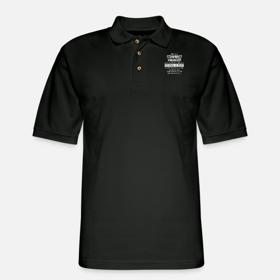 Communication Polo Shirts - Community Manager - Men's Pique Polo Shirt black