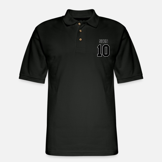 Periodic Polo Shirts - Element Neon - Men's Pique Polo Shirt black