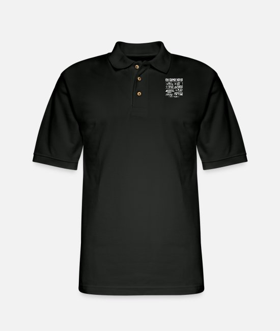 Guitar Polo Shirts - Heavy Equipment operator - Multi tasking operator - Men's Pique Polo Shirt black
