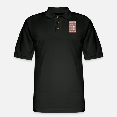 Pattern Geometric Waves Pattern - Men's Pique Polo Shirt