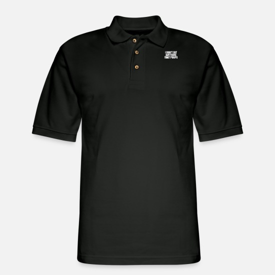 Geek Polo Shirts - Don t Eat Anything That - Men's Pique Polo Shirt black