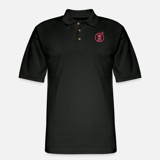 Ring Polo Shirts - He Put a Ring on it! | Bride-to-Be - Men's Pique Polo Shirt black