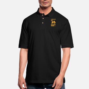Up Leveled up to daddy gift fathers day saying - Men's Pique Polo Shirt