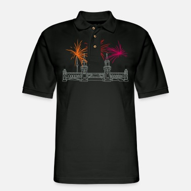 Kreuzberg Oberbaum Bridge in Berlin - Men's Pique Polo Shirt