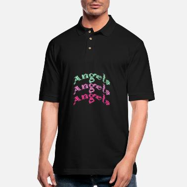 Ángel angels angels angels - Men's Pique Polo Shirt