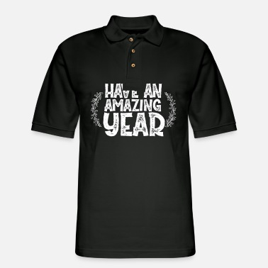 Amazing Have An Amazing Year No. 5 - Men's Pique Polo Shirt