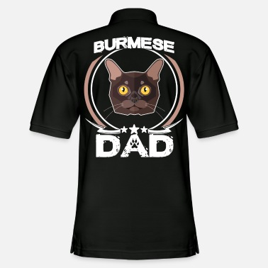 Sunglasses Burmese Dad Shirt Fathers Day Gift Cat Love Mens - Men's Pique Polo Shirt