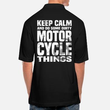 Keep calm and do some dirty Motorcycle things - Men's Pique Polo Shirt