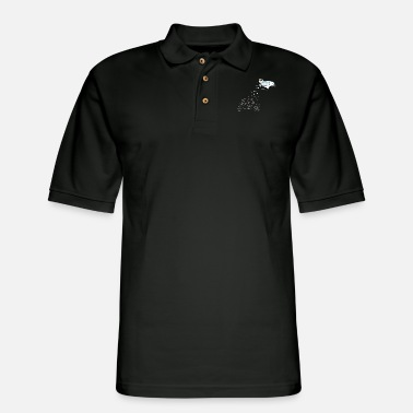 Skydiving Snowmen - Men's Pique Polo Shirt